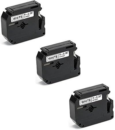 9mm x 8m Printing Pleasure 3 x M K221 MK-221BZ Nero su Bianco Nastro compatibile per Brother/P-Touch PT80 PT85 PT90 PT100 PT110 PT55BM PT55S PT65 PT65SB PT70 PT70BM PT70HK PT70HOT PT70SP PT70SR