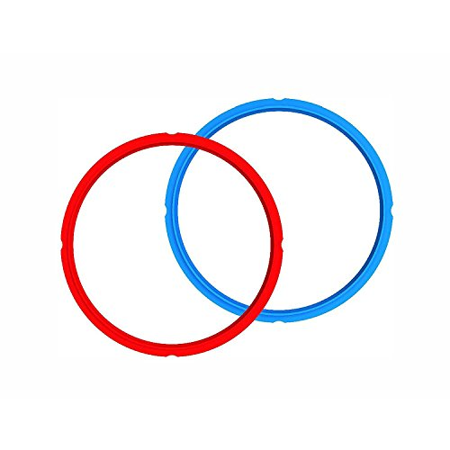 Genuine Instant Pot Sealing Ring 2-Pack - 8 Quart Red/Blue by Instant Pot