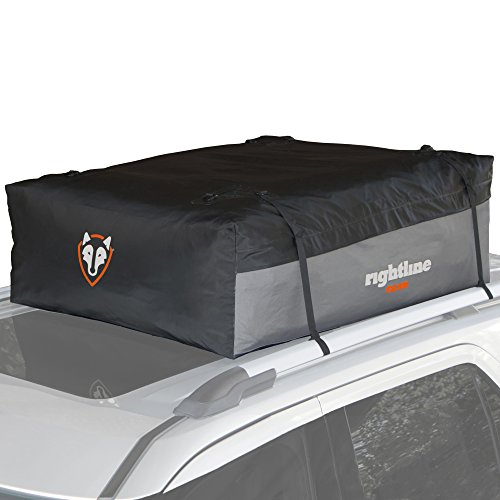 Rightline Gear 100S30 Sport 3 Car Top Carrier  18 Cu Ft  Waterproof  Attaches With Or Without Roof Rack