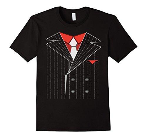Mens Gangster Costume Shirt Halloween Mafia XL Black