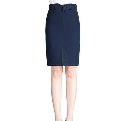 1d2e937cfb ChenYongPing Mujer Faldas Falda con Textura de lápiz para Mujeres - Ropa de  Trabajo para Mujeres