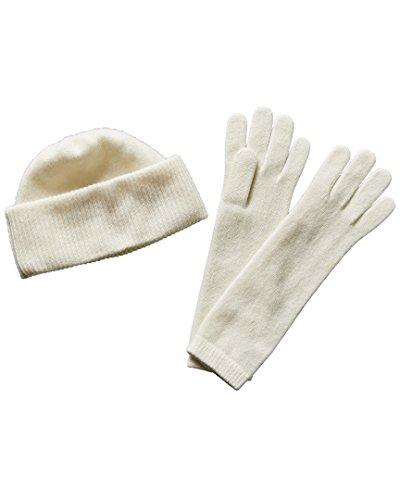 Portolano Womens Cashmere Hat & Gloves Set, - Cashmere Portolano