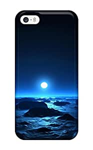 Quality CaseyKBrown Case Cover With Sea & Moon At Mid Night Nice Appearance Compatible With Iphone 5/5s