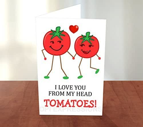 Amazon.com: Love Note Card, I Love You From My Head