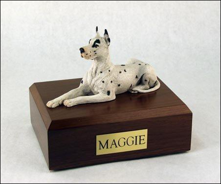 GENUINE North American Hardwood Great Dane Laying Figurine Urn Xlarge ()