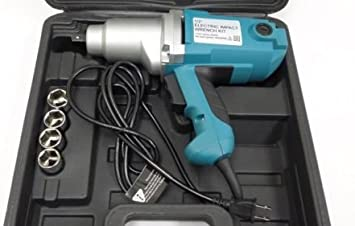 """1//2 /"""" Drive Electric IMPACT WRENCH TOOL 240 lbs Torque w// sockets /& case no air"""