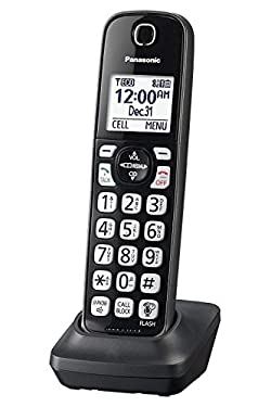 Panasonic KX-TGDA51M Dect 6.0 Digital Additional Cordless Metallic Black Handset for KX-TGD56x Series (Renewed)