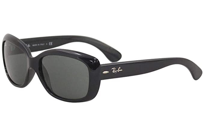 Ray-Ban RB4101 601 Shiny Black Jackie Ohh Rectangle Sunglasses Lens  Category 3 cdcd962bec5f