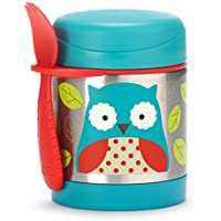 Skip Hop Baby Zoo Insulated Food Jar and Spork Set, Otis Owl