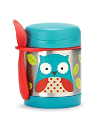 Skip Hop Baby Zoo Little Kid and Toddler Insulated Food Jar and Spork Set, Multi, Otis Owl BOBEBE Online Baby Store From New York to Miami and Los Angeles