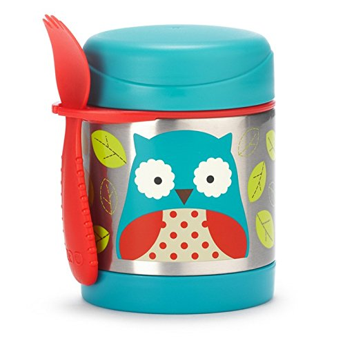Skip Hop Zoo Stainless Food Jar - Owl - 11 oz (Insulated Food Jar)
