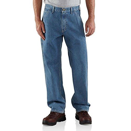 (Carhartt Men's Big & Tall Washed Denim Original Fit Work Dungaree B13,Stonewash,54 x 30)
