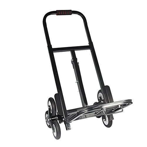 Hand Truck Cart,Stair Climber Hand Truck Portable Folding Push Truck Trolley Luggage Flatbed Dolly Cart Capacity 330lbs for Luggage,Shopping,Travel by Zerone