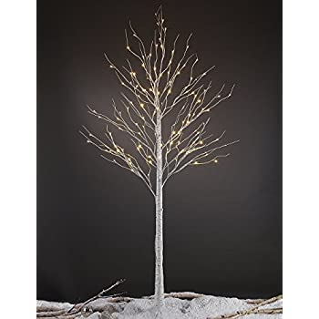 Lightshare 8FT 132 LED Birch Tree,Home/Festival/Party/Christmas,Indoor
