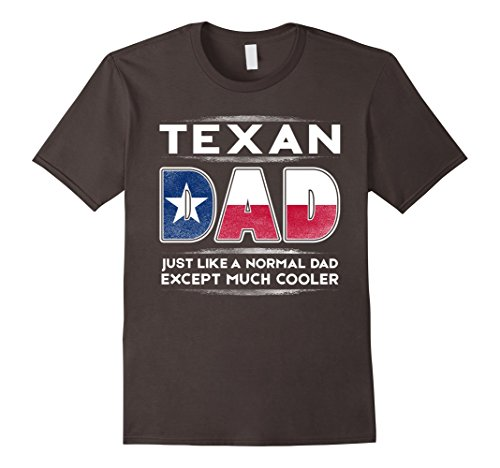 Mens Texan Dad is Much Cooler Father's Day T-Shirt Flag XL Asphalt