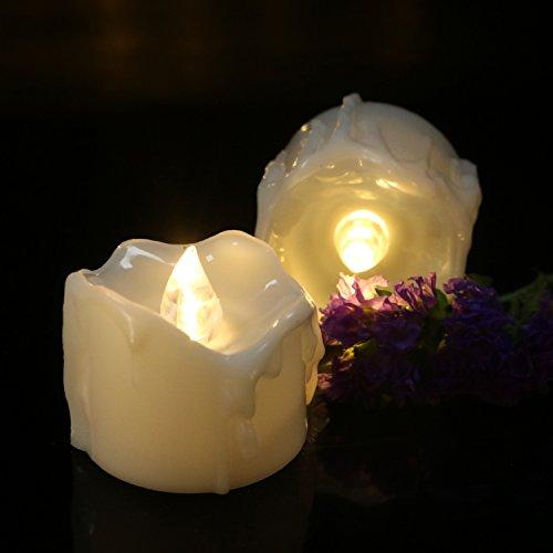Micandle 24Pcs Warm Led Tea Candles,Battery LED Flameless...