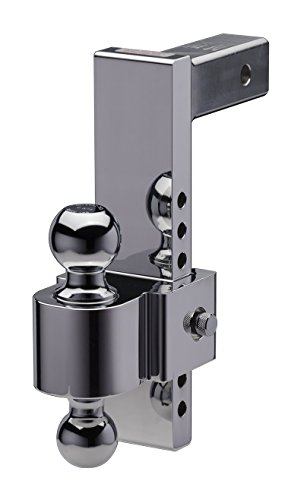 Fastway FLASH 42-00-2900 E Series Adjustable Aluminum Ball Mount with 10 Inch Drop, 2 Inch Shank, and Chrome Plated Balls ()
