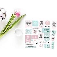 Süße Aufkleber für Hochzeitsdeko und Gästebuch