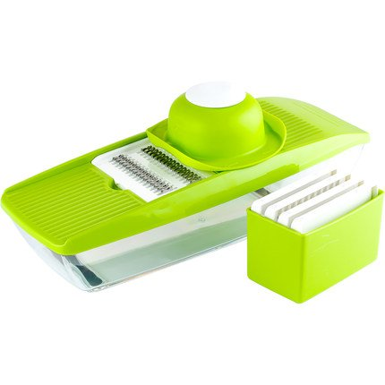 Mandolin Slicer Shule Vegetable Slicer with 5 Interchangeable Stainless Steel Blades–Food Slicer-Vegetable Cutter and Slicer-Cheese Slicer& Other Accessories