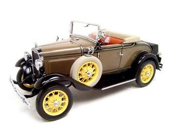 - 1931 FORD MODEL A ROADSTER BROWN 1:18 DIECAST MODEL