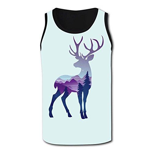 Gjghsj2 Color Deer Tank Top Vest Shirts Singlet