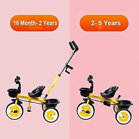 Triciclo para Niños Triciclo Del Bebé Con La Manija De Empuje ...