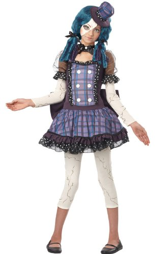 California Costumes Broken Doll Tween Costume, Large -