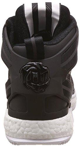 adidas Rose Nero Bianco Scarpe Boost Basket da Uomo 6 Ftwbla Derrick Negbas Negbas OOH5xr6