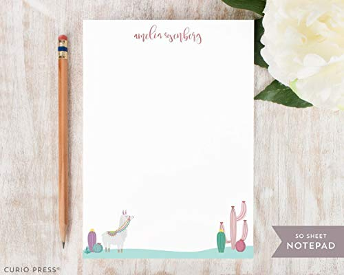 ALPACA NOTEPAD - Personalized Stationery/Stationary Desert Silly Note Pad by Curio Press