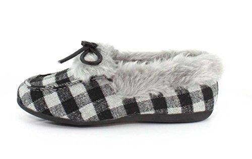 Vionic Womens 366 Juniper Cozy Suede Shoes Schwarz / Grau