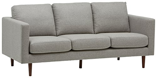 "Rivet Revolve Modern Sofa, 80""W, Grey Weave - This modern sofa has enough classic elements to blend with your existing style. Plus, clean lines, comfortable seating and durable fabric give this piece functionality as well as smart design. 34.6''D x 79.9""W x 35.4 ''H Sturdy hardwood frame and solid beech wood legs - sofas-couches, living-room-furniture, living-room - 41Uab TiyPL -"