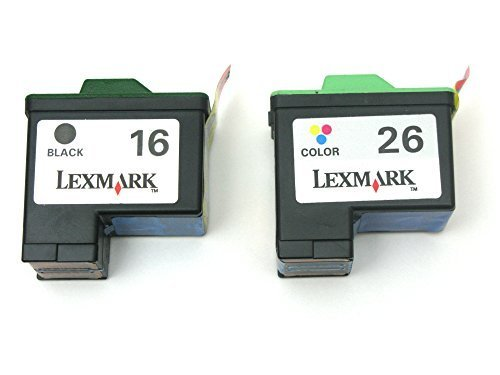 Genuine Lexmark 16 26 Ink cartridge 2 Pack in Bulk Packing for Lexmark X75 X1185 X1250 X1270 X2250 Z25 Z33 Z35 Z605 Z611 Z615 Z645 Printer Original Lexmark Cartridge