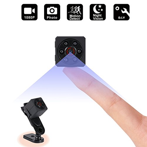 Mini Spy Hidden Camera,1080P Portable Small HD Nanny Cam Security System With Motion Detection,Infrared Night Vision,Suitable for Home Car Drone Office ,Maximum Support 32GB TF Card from AONOKOY