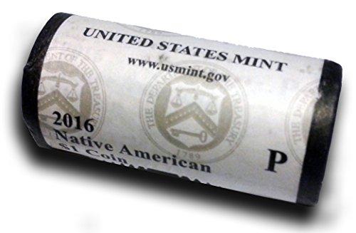 - 2016 P Native American Sacagawea Original Unopened US Mint Roll Brilliant Uncirculated