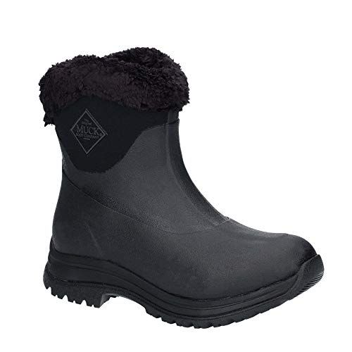 Muck Boot Unisex Arctic Apres Slip On Casual Winter Boots (6 M US / 7 W US, Black/Charcoal) ()