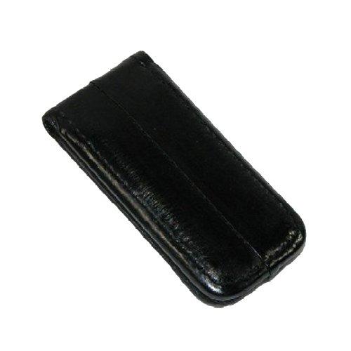 MJ Masters Men's Eel Skin Large Magnetic Money Clip, Black ()