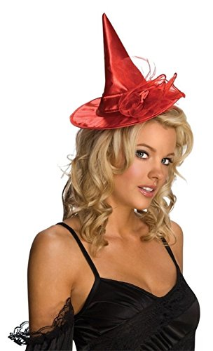 Rubie's Costume Co Red Mini Satin Wit Child Hat (Red Witch Hat)