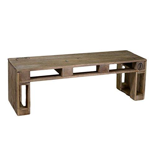 Banco de madera 2 plazas estilo rustico, 120x40x40: Amazon ...