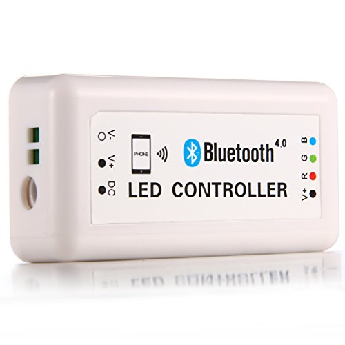XCSOURCE 12V Wireless Bluetooth V4.0 RGB LED Strip Light Controller For iOS Android LD448 (Bluetooth Light Controller)