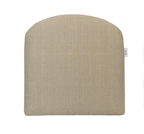 (RSH Décor Indoor ~ Outdoor Sunbrella Linen Antique Beige Foam Contour U-Shape Chair Cushion ~ (19x19x3))