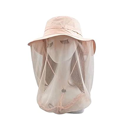 8bfa1365493 Vrcoco Unisex Summer Anti-mosquito Mask Hat with Head Net Mesh Face  Protection UPF50+ Sun Protection For Beekeeping Beekeeper Outdoor Fishing  Bucket Hat