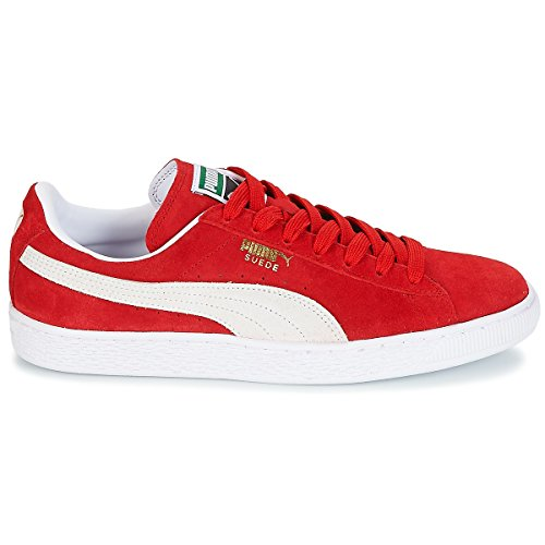 Puma Adulto Unisex Red Zapatillas White Classic Suede 6IvaxqwrIt