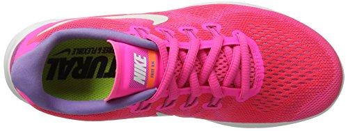 Nike Free Run 2017, Chaussures de Running Femme, Rose (Racer Pink/Off White/Pink Blast/Brt Mango), 36.5 EU