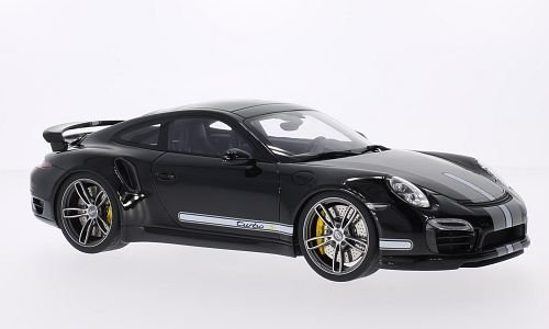 Porsche 911 Gt (Porsche 911 (991) Turbo S Techart, matt-black/light grey, 2013, Model Car, Ready-made, GT spirit 1:18)