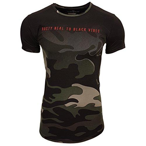 Rusty Neal Herren T-Shirts T-Shirt grün kaki S