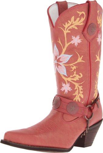 Durango Womens Crush Geborduurd Harnas Cowgirl Boot Puntige Teen Ramblin Rose