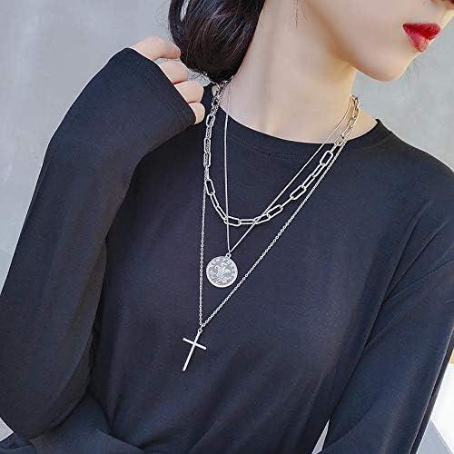 BGPOM Halskette Female Hip-Hop Bodie Lange Anhänger Kette Dekoration Zubehör Halskette, zweitausendzweihundertzweiunddreißig