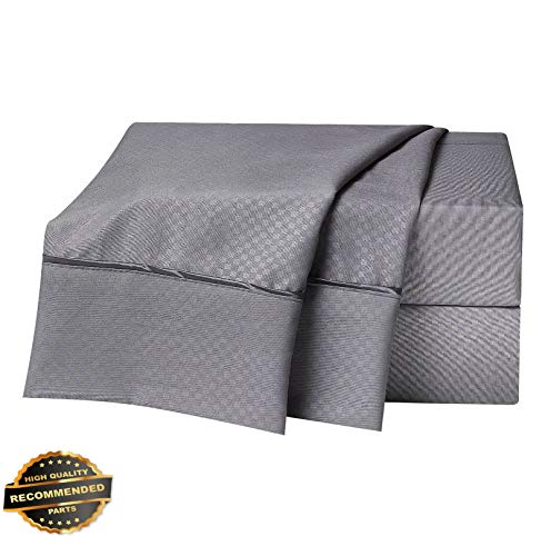 Werrox 1800 Count 4 Piece DEEP Pocket Bed Sheet Set - Checkered Collection | Twin Size | Quilt Style QLTR-291266099