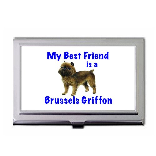 Brussels Griffon Business Card Holder - My Best Friend is Brussels Griffon Business Card Holder