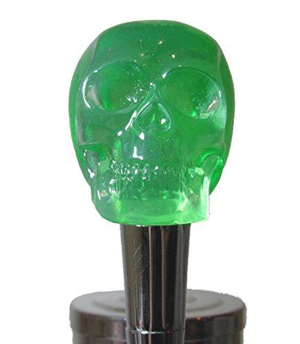 Cráneo verde Mango de llave de cerveza Bar de deportes kegerator Resina Zombie breweriana